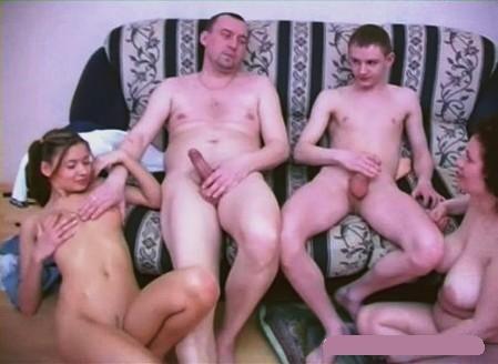 Групповой секс семья